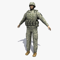 soldier ranger human 3d model
