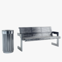obj bench recycle bin