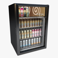 3d refrigerator coffee drinks model