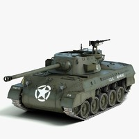 3d m18 tank destroyer hellcat model