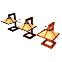 3d model taliesin mini table lamps