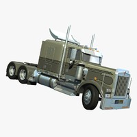 3d model w900 truck