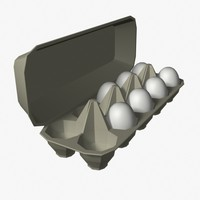 egg carton 3d model