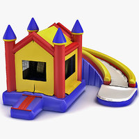 inflatable castle 3d obj