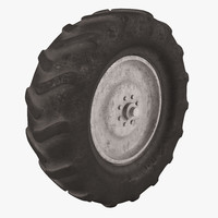 tire tractor obj