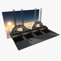futuristic bridge environment scene 3d model