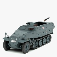 3d ww2 german hanomag sdkfz