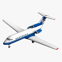 maya cheetah3d jak 40 aircraft