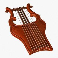 3d model harp