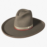 3d model of old west stetson