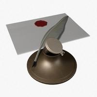 3d model sealed letter