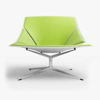 3d fritz hansen space chair
