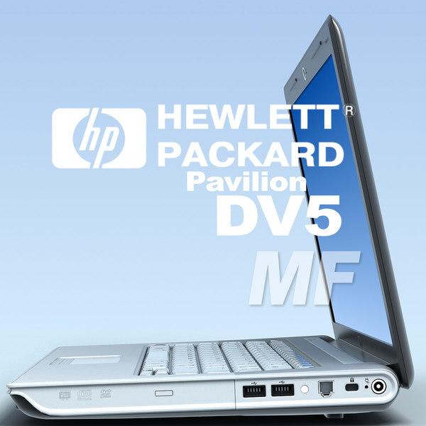 notebook hp pavilion dv5 3d model