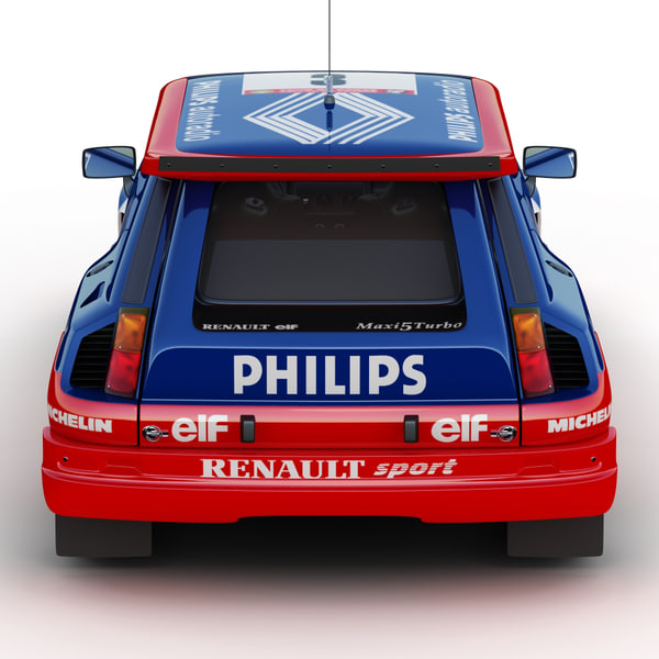 Renault Race Car: Renault 5 Turbo Rally Car 3d 3ds