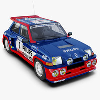 Renault 5 Turbo Rally Car