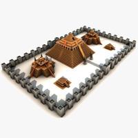 3d model temple city