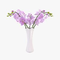 3d orchid vase model