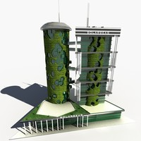 Concept Skyscraper Ecological