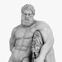 3d statue hercules farnese
