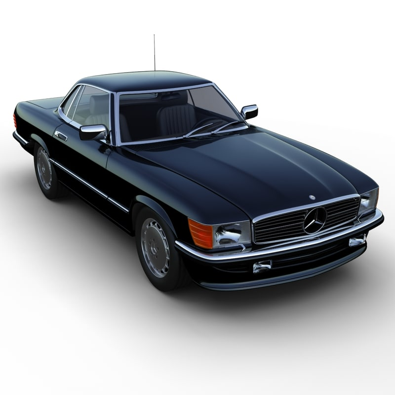 mercedes benz 350sl coup 3d model. Black Bedroom Furniture Sets. Home Design Ideas