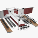 outdoor stage 3D models