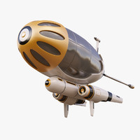 3d model fantasy airship
