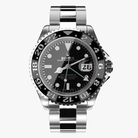 3d rolex gmt-master ii steel model