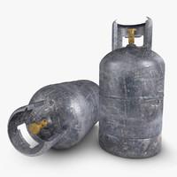 3d gas cylinder old