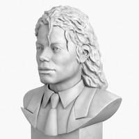 3dsmax decorative bust michael jackson