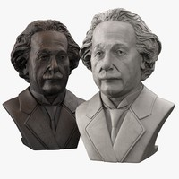 decorative bust albert einstein 3d max
