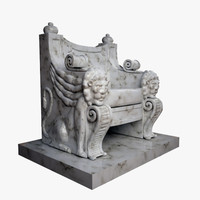 throne marble 3d model