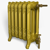 old cast iron radiator obj