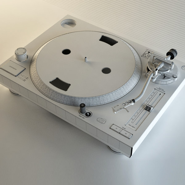 3d vinyl table model - DJ Turntable... by ink3d