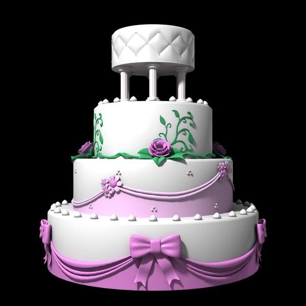 wedding cake 3d dxf