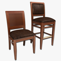 3d model dining chair bar stool