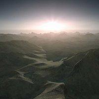 3d scene terrain landscape