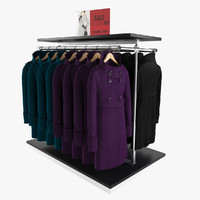 3d model female coats rack 1