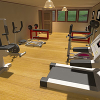 3d interior gymnastics room gym