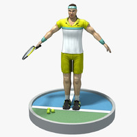 3d model of tennis player