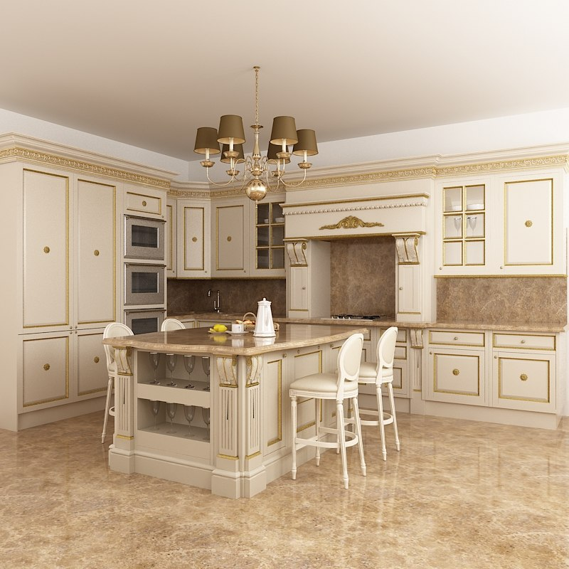 kitchen Francesco molon classic traditional island carved.jpg