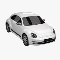 3d model new beetle 2012