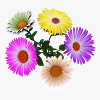 cartoon flowers 3d max