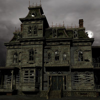haunted house 3d max