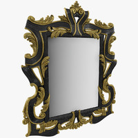 carved mirror obj