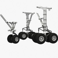 aircraft heavy landing gear 3d max