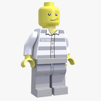 3d lego minifigure model