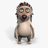 hedgehog cartoon 3d model