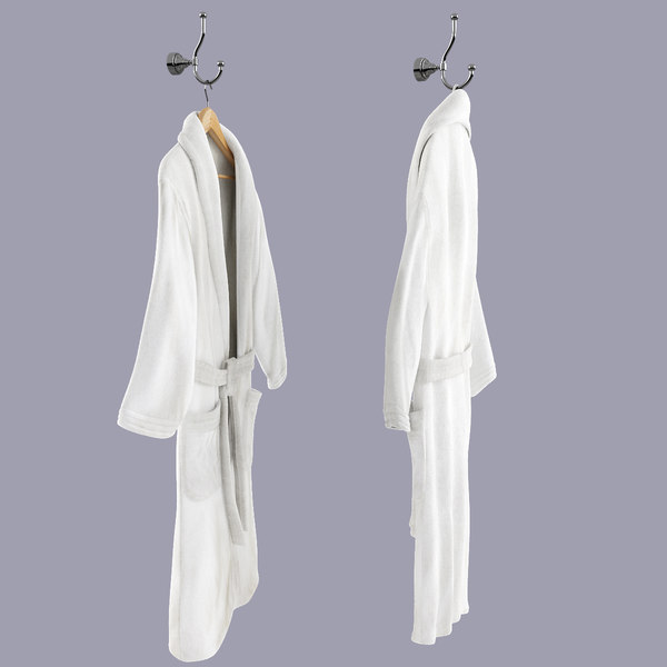 3ds max bathrobe hanger hook - Bathrobe On Hanger And Hook... by 3dlittlebee