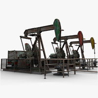3d oil pumpjacks model