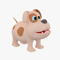 3d dog cartoon model
